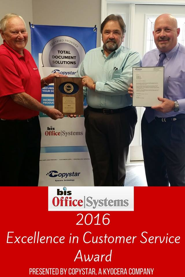 Mobile-Based BIS Office Systems Receives National Award for Excellence in Customer Service